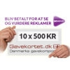 Compete in ten vouchers of 500 kr.