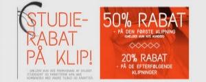 50 % studierabat ved første klipning hos HAIR By Andersen Odense!