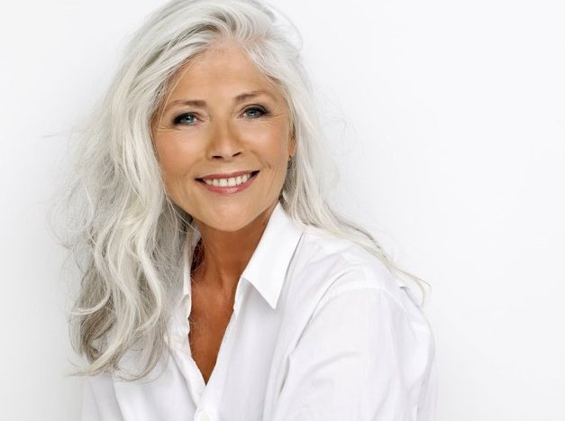 Silver fox on pinterest gray hair going gray and silver for Gorgeous in gray